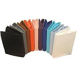 Juego de sábanas de franela de sábana bajera ajustable de punto en varios tamaños y coloures, algodón, antracita, 180x200 cm - 200 x200 cm