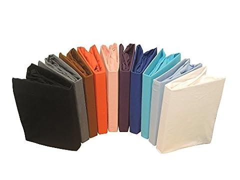 Drap-housse en flanelle de coton en plusieurs tailles et couleurs, Coton, gris, 180x200 cm - 200 x200 cm