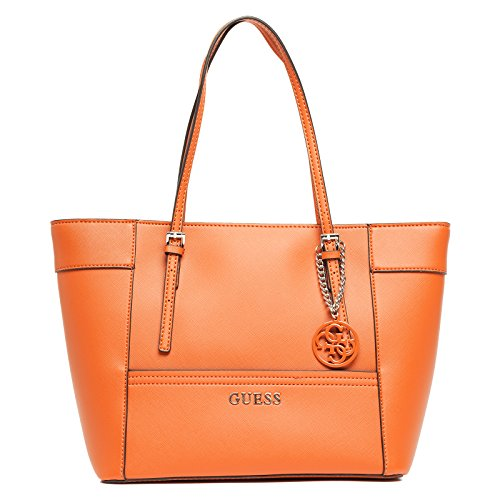 GUESS Delaney Small Classic Tote, Sac menotte pour Femme orange