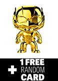 FunkoPOP Marvel Studios 10: Ant-Man Gold Chrome & 1 Random Marvel Trading Card