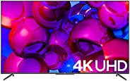 تلفزيون ذكي معدني بدون اطار من تي سي ال مقاس 75 بوصة 4 كيه بتقنية HDR معتمد يعمل بنظام Android - موديل 75T715