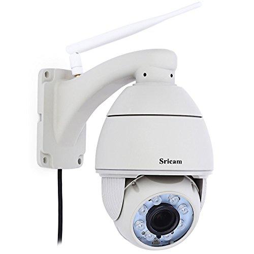 Sricam SP008Wireless WiFi IP Kamera Überwachung Überwachungskamera mit IR Nachtsicht Bewegung Erkennung Halterung Fernüberwachung, EU - Fernüberwachung Kamera