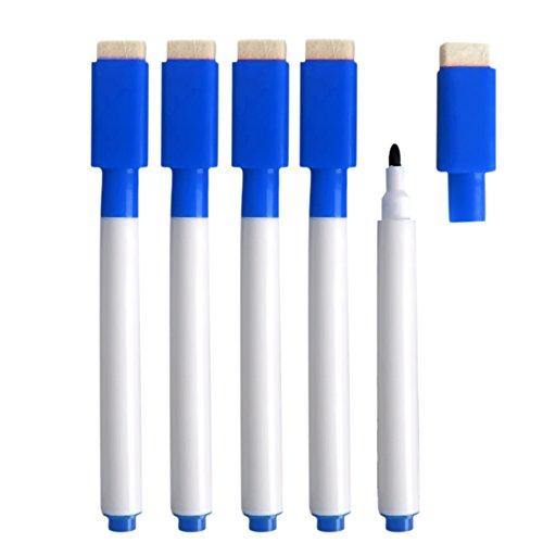 10-pz-scheda-bianca-riscrivibile-secco-cancellare-marker-penne-con-eraser-cap-blue