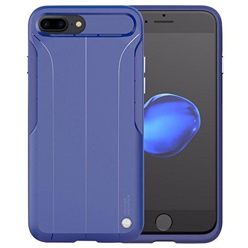 Hülle für iPhone 7 plus , Schutzhülle Für iPhone 7 Plus TPU Schutzhülle Rückseitige Abdeckung, eingebaut aus Blech ,hülle für iPhone 7 plus , case for iphone 7 plus ( Color : Black ) Dark blue