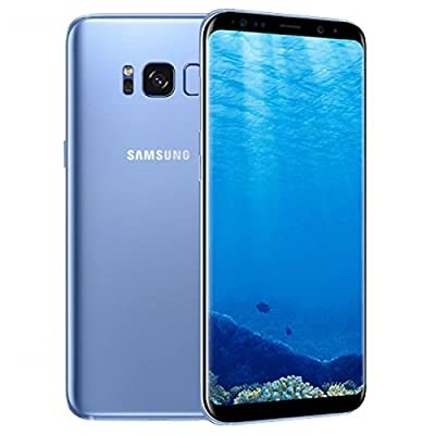 Samsung Galaxy S8 64GB 5.8in 12MP SIM-Free Smartphone in Coral Blue (Renewed)