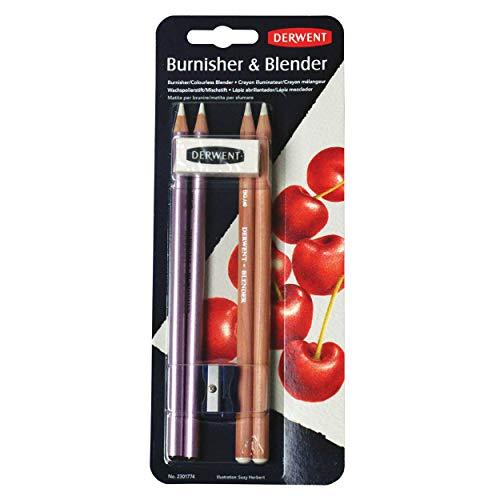 Derwent 2301774 Blisterpackung (2 Blender, 2 Wischer, 1 Anspitzer, 1 Radiergummi) (Blender 1)