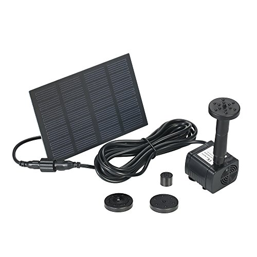 Presupuesto: * Consumo de energía del panel solar: 6V 1.2W * Consumo de potencia de la bomba sin escobillas: 6V 160mA * Cabeza de Deivery: 75 CM * Flujo máximo: 160L / H * Inicio: la bomba de agua no funcionará sin luz solar. Se reiniciará en tres se...
