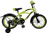 E & L 16 Zoll Fahrrad Gelb Kinderfahrrad Rücktrittbremse Stützräder