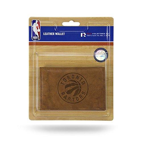 Unbekannt Rico Herren NBA Toronto Raptors geprägtes Leder Trifold Wallet, Tan, 12,7x 7,6cm Toronto Raptors-fan