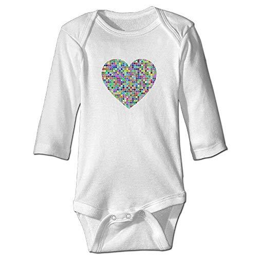 Neugeborenes Baby-Jungen-Mädchen-Bodysuit-Lange Hülse, Fashion Baby Infant Colorful Prismatic Chromatic Long Sleeve Onesies Bodysuit Long Sleeve Onesies Outfits Navy