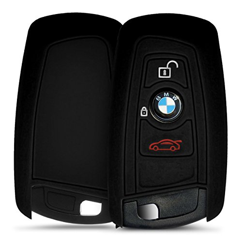 kwmobile-silicone-cover-for-bmw-3-button-car-key-key-protection-cover-etui-key-case-cover-in-black