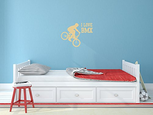 Comedy Wall Art I Love BMX - Beige - ca. 20 x 15 cm