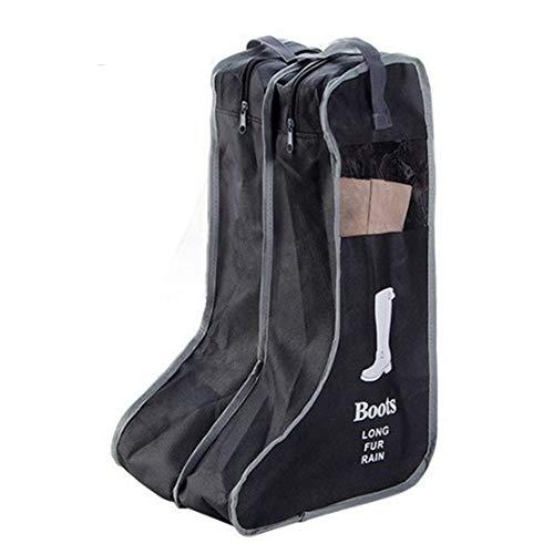 Wicemoon Funda Larga A Prueba De Polvo No Tejida De Las Botas Bolso De Almacenamiento De Los Zapatos Organizador Portátil del Viaje del Viaje(Negro L)