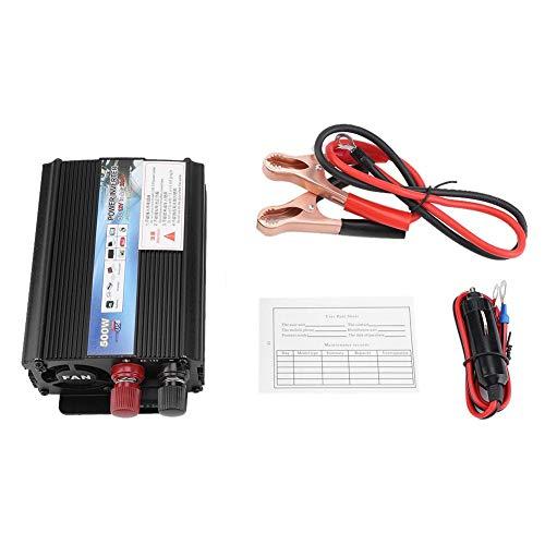 Zerodis Car Power Inverter DC 12V a 220V/110V 500W Solar Inverter convertitore con uscite e Porta USB per Home Travel per Smart Phone 12v to 220v/500w