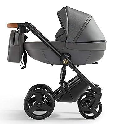 Krausman Kinderwagen 3 in 1 Nexxo Gray Kombikinderwagen Babyschale Babywanne Sportwagen Design Made In Germany