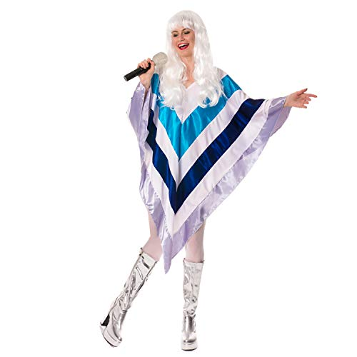 70er Abendkleid Super-Disco 1970 Eurovision Trooper Poncho - Super Trooper Kostüm Für Erwachsene