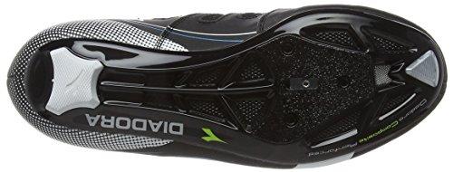 Diadora Trivex Ii, Chaussures de Vélo de Route Mixte Adulte Schwarz (black/white/blue fluo5193)
