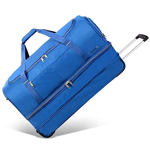 XXL Reisetasche Akropolis | Tasche mit Rollen und Trolley-Funktion | Sporttasche | 110 Liter groß - Navy
