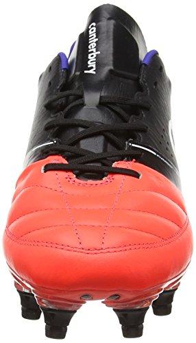 Canterbury Phoenix Elite 8 Stud, Chaussures de Rugby Homme Noir (98A Black/Firecracker)