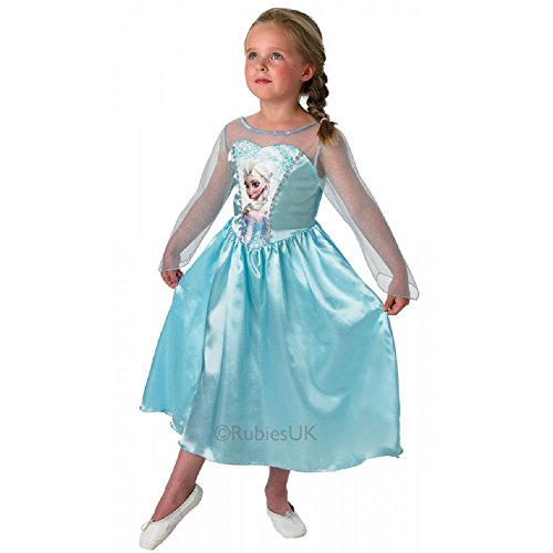 Disney Kostüm Medium Frozen Elsa - Disney Frozen ELSA KOSTÜM FÜR Kinder IM Alter VON 3-8 Jahren = ERHALTBAR IN 3 Verschiedene GRÖSSEN KLEINE PRINSESSINEN=IN DER GRÖSSE MEDIUM