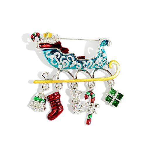 erte Accessoires Weihnachten Brosche weiblichen Schlitten einfache Herren Brosche Pullover Mantel einfache dekorative Pin Schmuck Wilde Brosche ()