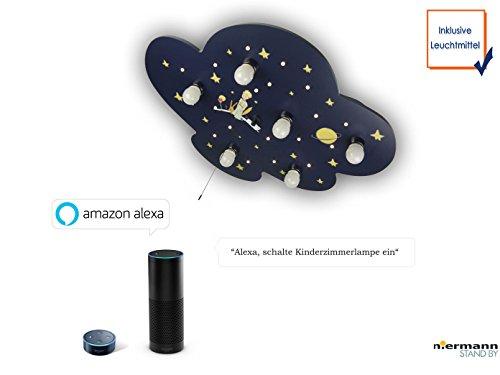 LED Plafonnier XXL pour enfants, le petit prince Amazon Echo compatible, interrupteur à tirette pour veilleuses LED apporte le ciel étoilé à la Chambre de bébé.