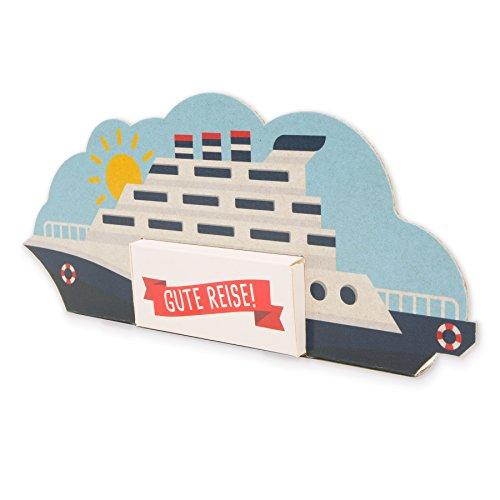 itenga Kreuzfahrtschiff Geldgeschenk Verpackung aus Karton für Hochzeit oder Geburtstag Geldgeschenk für Reise