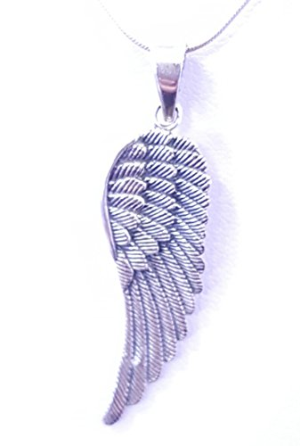 Angel rufer Silver Pendant, angel wings very well Xbex gearbeitet sterling silver. Shipping in 925 hours.