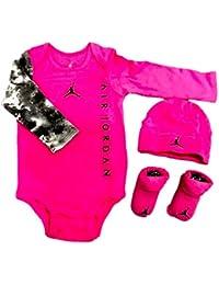 6f07258ae NIKE Michael Jordan Infant Long Sleeve Layette 3 Pcs Sets (6-12 Months,