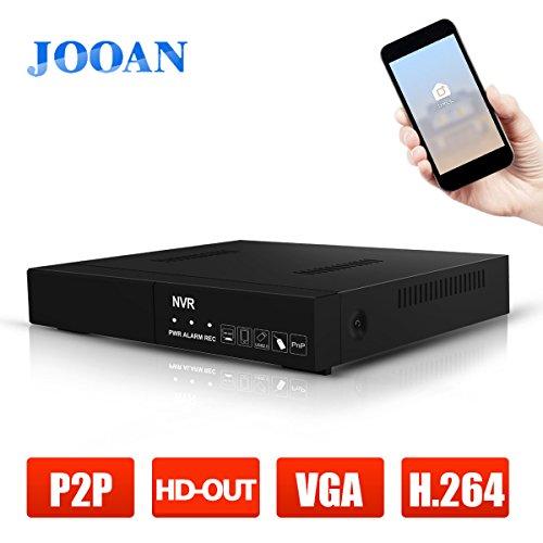 JOOAN 8CH HD CCTV NVR Netzwerk Videoüberwachung Rekoder Überwachungsrecorder für IP-Kamera ONVIF kompatibel (8ch Poe Sicherheit Kamera-system)