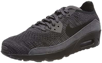 Nike Air Max 90 Ultra 2.0 Flyknit, Chaussures de Running Compétition Homme, Noir (Thunder Black