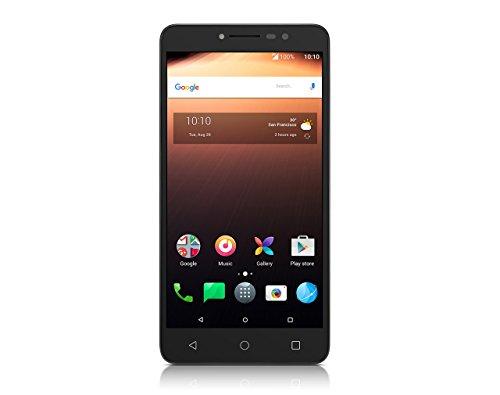 Alcatel Smartphone A3 XL (15,25 cm (6 Zoll) Display, 16 GB Speicher, Android 7.0) Grau/Silber