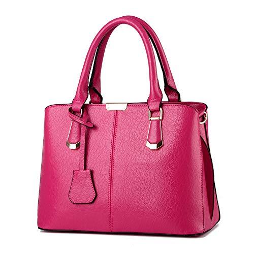 8aa9df28f FANGDADAN Mujer Bolsos Bandolera,Mujer Moda Ocio Tote Elegante Maletín Ms  Señoras Bolso Color Sólido Crossbody Bolso Messenger Bag,Rose