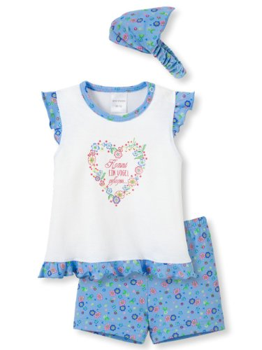 Mädchen Schlafanzug Zweiteiler (Schiesser Baby - Mädchen Schlafanzug Zweiteiler Set mit Mütze Ausfahrer - 142361, Größe Kinder:74;Farbe:sortiert)