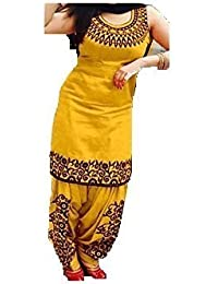 Women's Cotton Silk Salwar Suit Dress Material (e-cloth SalwarSuit_patiyala_UnStitched)