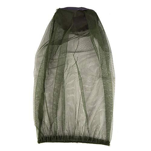 Pudincoco para Acampar al Aire Libre Sombrero Anti Mosquitos Malla de Red Mosquitera Gorra Mosquito Ropa (Verde)