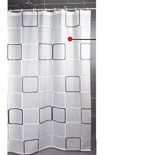Andopa resistent gegen schimmel mit freiem Haken für Badezimmer nr ausdünstungen peva Material starken Bad duschvorhang wasserabweisend stall duschen und badewannen 72 x 78 Zoll 72 X 78 Inch Weiß - Dusche Vorhang Liner Klar