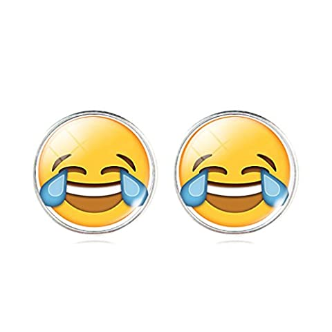 Interesting Facial Expression Laugh with Tear 3D Pattern Crystal Time