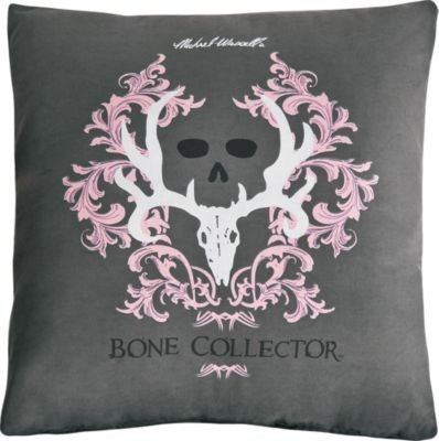 Bone Collector Square Kissen, grau/pink (Bone Collector Kissenbezüge)