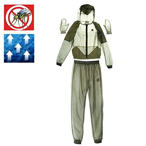 Neborn Outdoor Mückenschutz Anzug Bug Jacke Mesh Mit Kapuze Anzüge Angeln Jagd Camping Jacke Schutzhülle Mesh Angeln Kleidung Size XL -