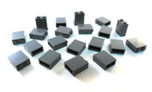 """Preisvergleich Produktbild LEGO CITY 20 Stück """"Stein 1x2x2 Noppen"""" in Neu-Dunkelgrau"""