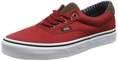 Vans Unisex-Erwachsene Era 59 Low-Top, Rot (Cord and Plaid Red Dahlia/True White), 40.5 EU