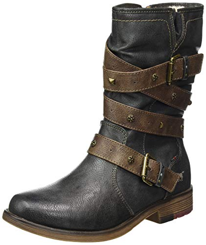 MUSTANG Shoes Stiefel in Übergrößen Graphit 1295-603-259 große Damenschuhe, Größe:43