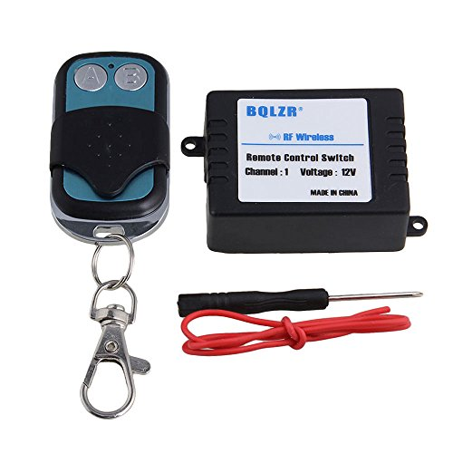 BQLZR 1CH 433MHZ Wireless RF Remote Control Switch Transmitter Receiver DC 12V 10A -