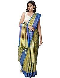 177a14d8eb Unnati Silks Women Brocade Woven Banarasi Silk Saree with blouse and  Tassels from the Weavers of Uttar Pradesh…