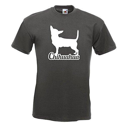 KIWISTAR Chihuahua mit Name Techichi TShirt in 15 verschiedenen Farben  Herren Funshirt bedruckt Design Sprüche Spruch Motive Oberteil Baumwolle  Print Größe ...