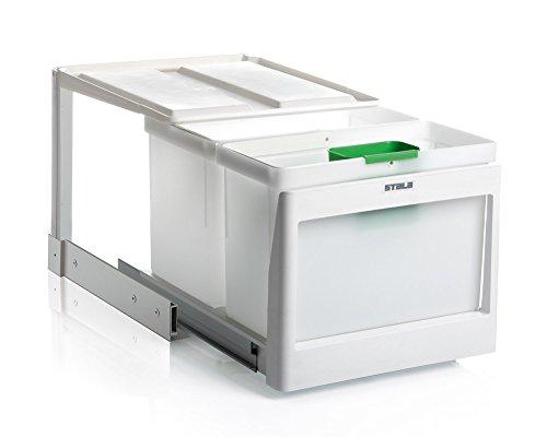 Stala EKO-2SK, weiß, 1 x 21 Liter, 1 x 16 Liter -