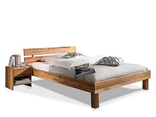 moebel-eins CARIA Doppelbett/Massivholzbett, 160 x 200, Wildeiche