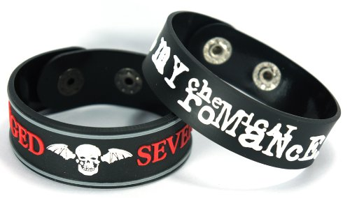 Avenged Sevenfold My Chemical Romance 2pcs NEU. Bracciale Wrist Band 2 X 99 A52