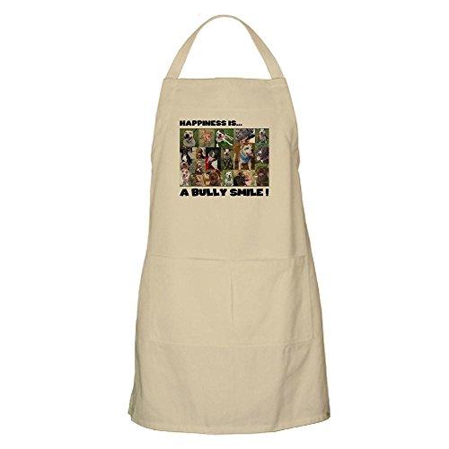 CafePress-Bully Smiles. BBQ-Küche Schürze mit Taschen khaki -